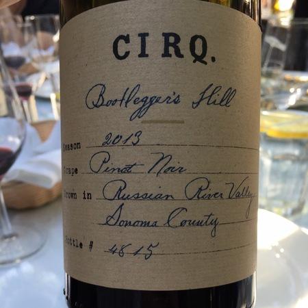 Cirq Bootlegger's Hill Pinot Noir 2014