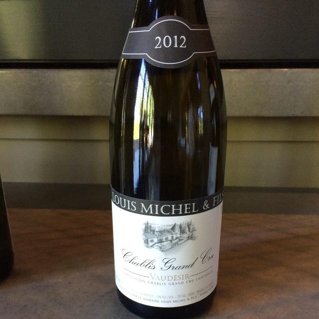 Vaudésir Chablis Grand Cru Chardonnay 2012