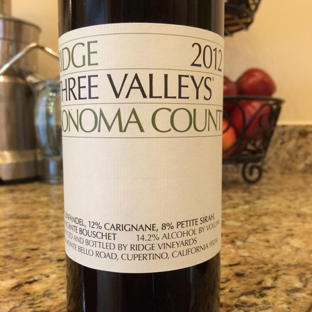 Ridge Vineyards Three Valleys Zinfandel Blend 2015