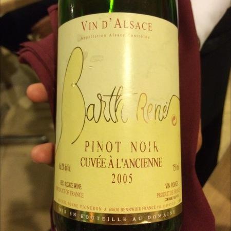René Barth Cuvée à L'Ancienne Pinot Noir 2015