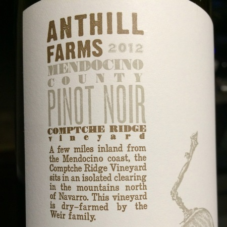 Anthill Farms Comptche Ridge Vineyard Pinot Noir 2015