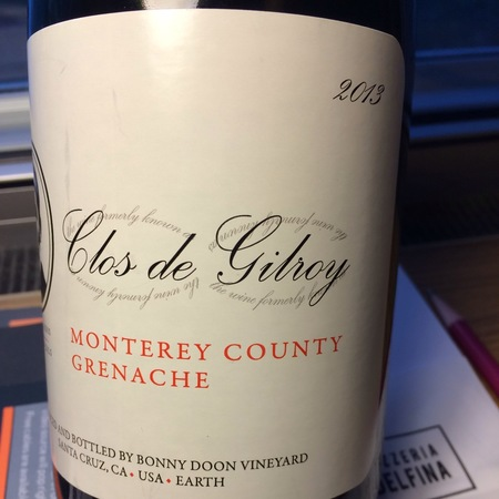 Bonny Doon Vineyard Clos de Gilroy Grenache 2013
