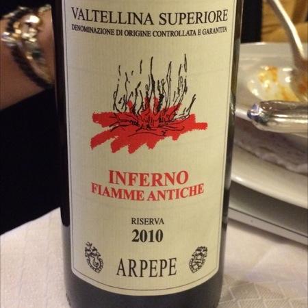 ARPEPE Fiamme Antiche Inferno Valtellina Superiore Nebbiolo 2010
