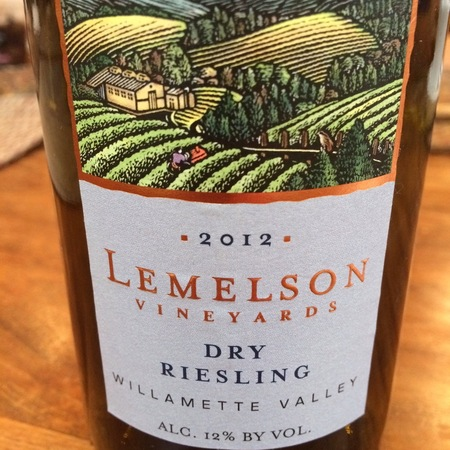 Lemelson Vineyards Willamette Valley Dry Riesling 2014