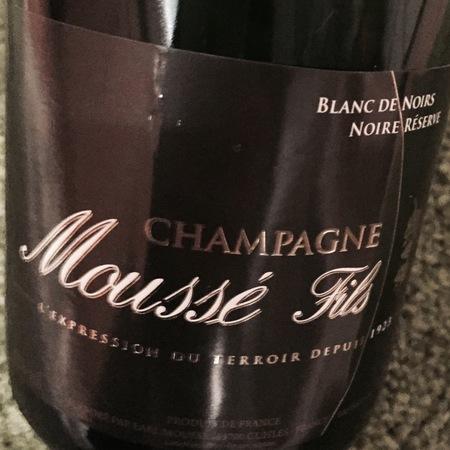 Moussé Fils Noire Réserve Brut Blanc de Noirs Champagne Blend NV