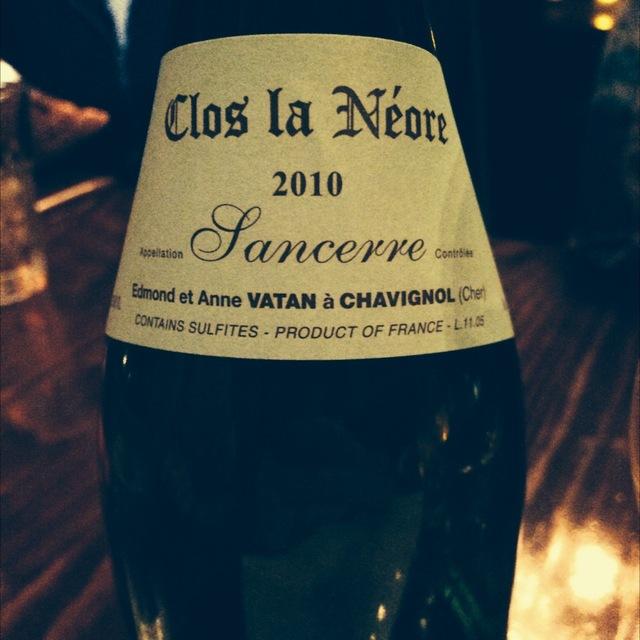 Clos La Néore Sancerre Sauvignon Blanc 2010