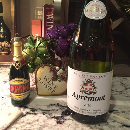 Bernard et Christophe Richel Apremont Vin de Savoie Jacquère 2016