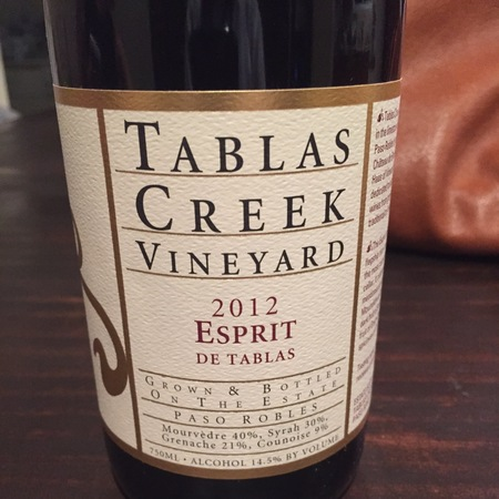 Tablas Creek Vineyard Esprit de Tablas Mourvedre Blend 2013