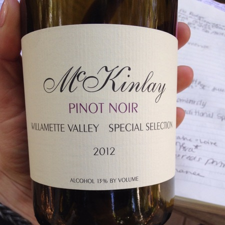McKinlay Special Selection Willamette Valley Pinot Noir 1999