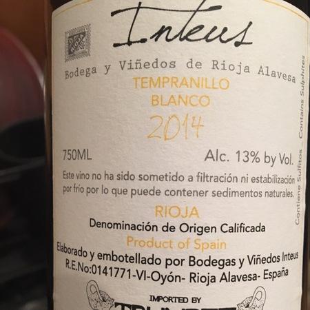 Inteus Rioja Alavesa Tempranillo Blanco 2014