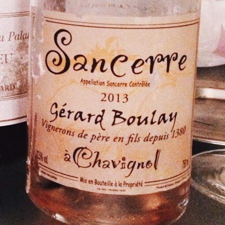 Gérard Boulay Sancerre Pinot Noir Rosé  2016