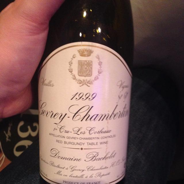 Les Corbeaux Vielles Vignes Gevrey-Chambertin 1er Cru Pinot Noir 1999