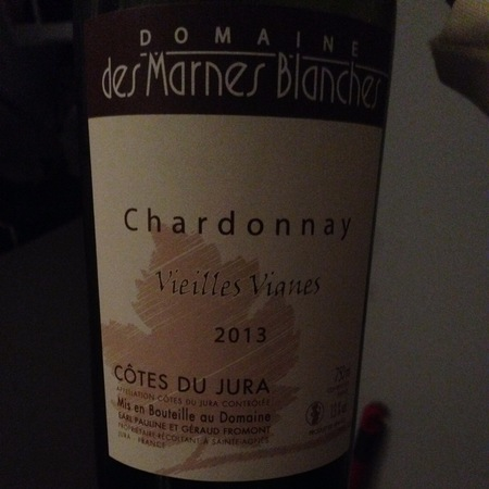 Domaines des Marnes Blanches Vieilles Vignes Côtes du Jura Chardonnay 2015