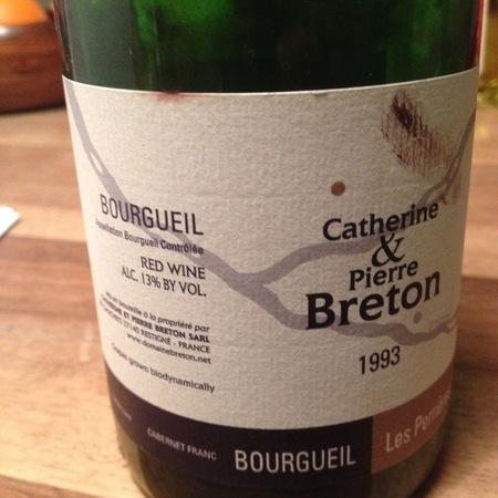 Catherine et Pierre Breton Les Perrières Bourgueil Cabernet Franc 1993
