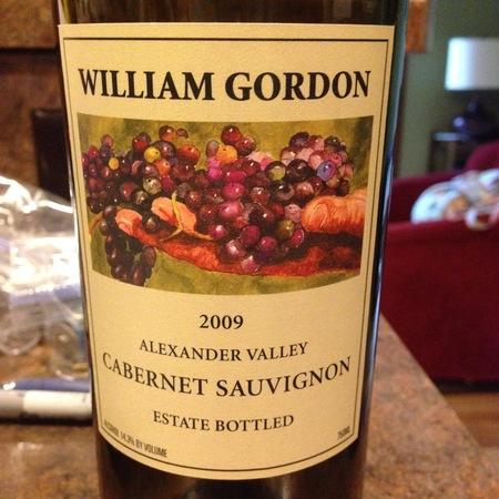 William Gordon Winery Alexander Valley Estate Cabernet Sauvignon  2009