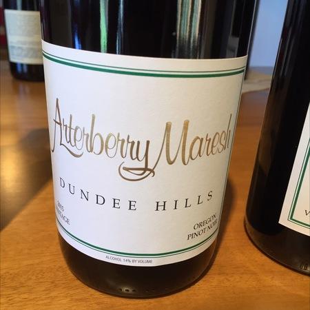 Arterberry Maresh Dundee Hills Pinot Noir 2015