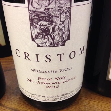 Cristom Mt. Jefferson Cuvée Willamette Valley Pinot Noir 2015