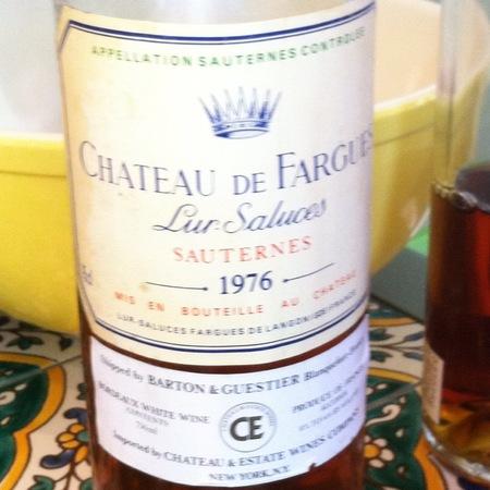 Château de Fargues Sauternes Sémillon-Sauvignon Blanc Blend 1976