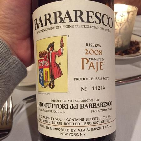 Produttori del Barbaresco Paje' Riserva Barbaresco Nebbiolo 2011