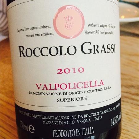 Roccolo Grassi Valpolicella Superiore Corvina Blend 2013