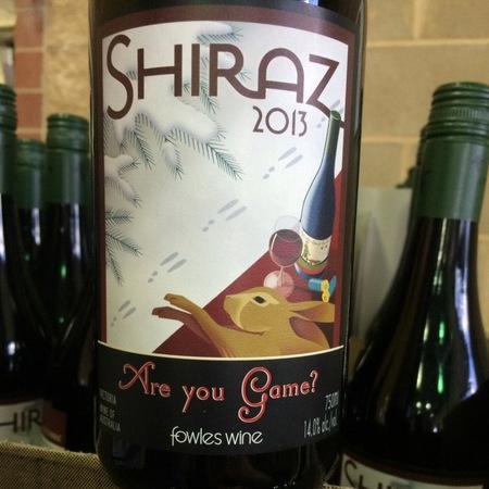Fowles Wine Are you Game? Shiraz 2013
