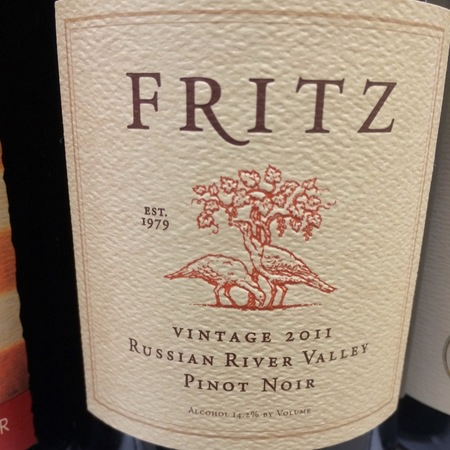 Fritz Russian River Valley Pinot Noir 2013