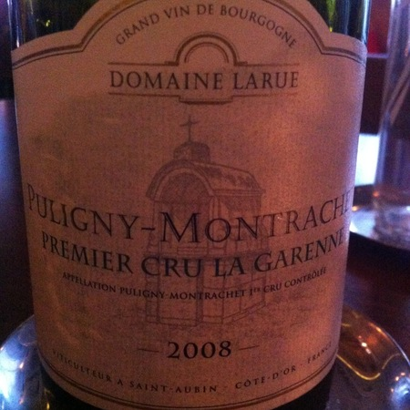 Domaine Larue La Garenne Puligny-Montrachet 1er Cru Chardonnay 2008