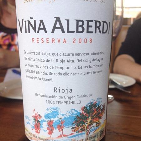 La Rioja Alta Viña Alberdi Reserva Rioja Tempranillo 2010