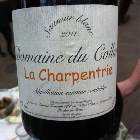 Domaine du Collier La Charpentrie Saumur Blanc Chenin Blanc 2011