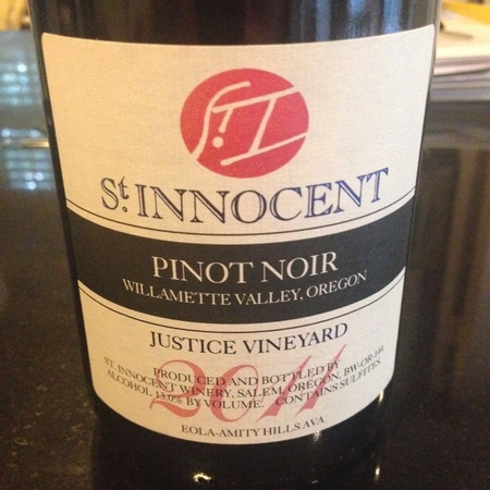 St Innocent Winery Justice Vineyard Pinot Noir 2014