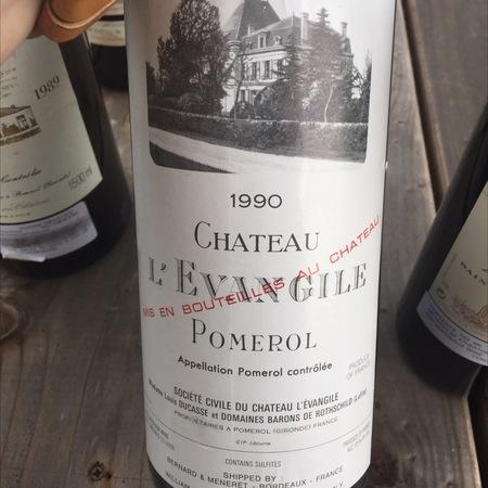 Château L'Evangile  Pomerol Red Bordeaux Blend 1990