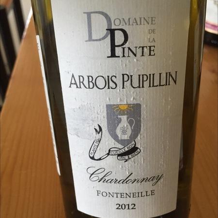Domaine de la Pinte Fonteneille Arbois Pupillin Chardonnay 2012