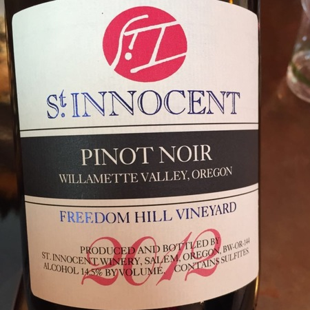 St Innocent Winery Freedom Hill Vineyard Pinot Noir 2013