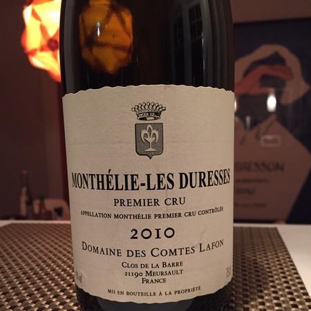 Domaine des Comtes Lafon Les Duresses Monthélie 1er Cru Pinot Noir 2010