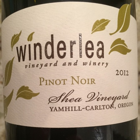 Winderlea Vineyard and Winery Shea Vineyard Pinot Noir 2012