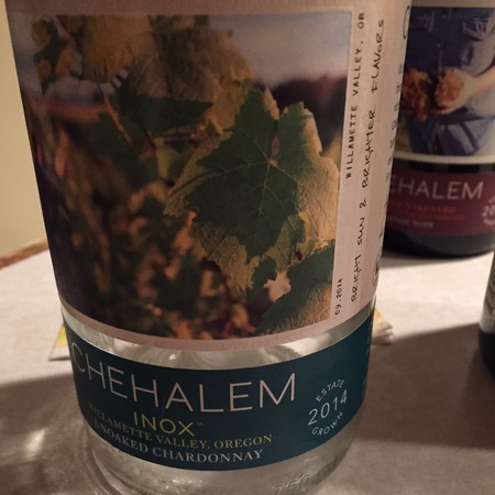 Chehalem Inox Willamette Valley Chardonnay 2014