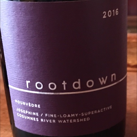 Rootdown Cosumnes River Watershed Mourvedre 2016