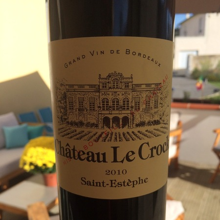 Château Le Crock Saint-Estèphe Red Bordeaux Blend 2010
