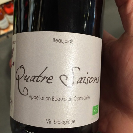 Domaine Chasselay Quatre Saisons Beaujolais Gamay 2012