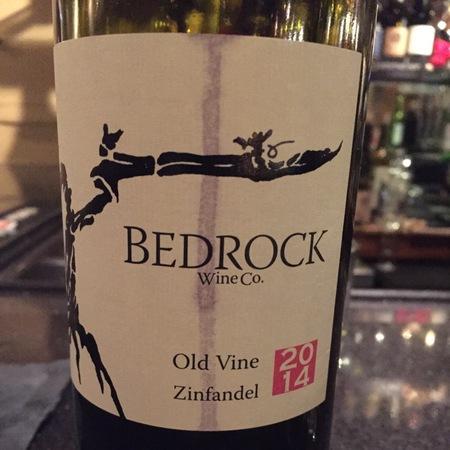 Bedrock Wine Co. Old Vine California Zinfandel 2014