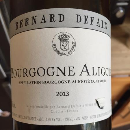 Domaine Bernard Defaix Bourgogne Aligoté 2015