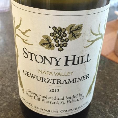 Stony Hill Napa Valley Gewürztraminer 2013