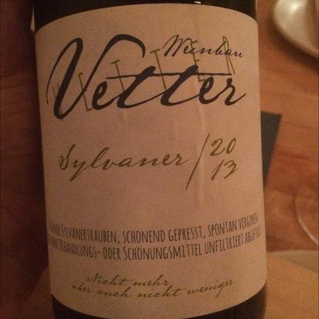 Weinbau Vetter Sylvaner 2015