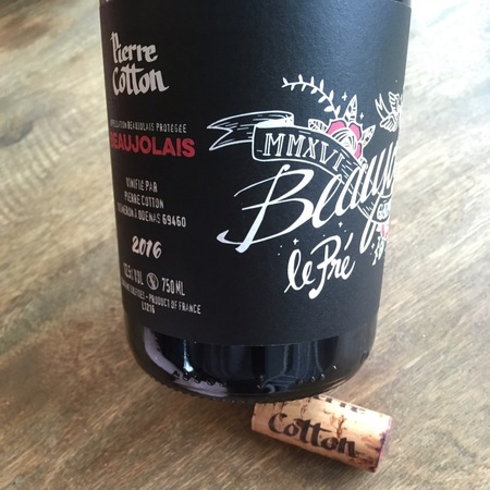 Pierre Cotton Beaujolais Gamay 2016