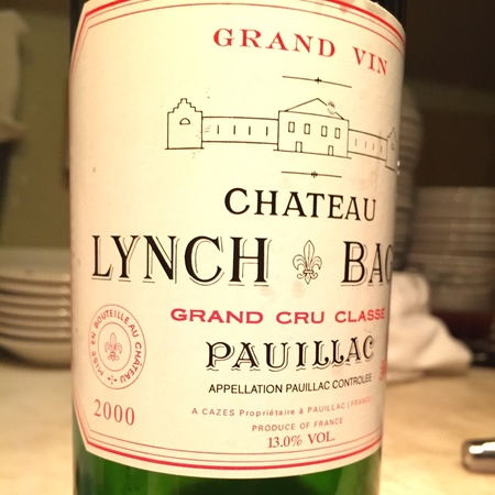 Château Lynch-Bages Pauillac Red Bordeaux Blend 2000