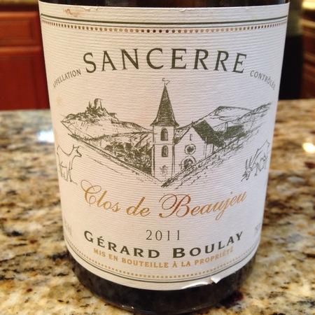 Gérard Boulay Clos de Beaujeu Sancerre Sauvignon Blanc 2015