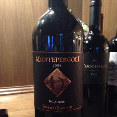 Enrico Santini Montepergoli Bolgheri Merlot Blend 2008
