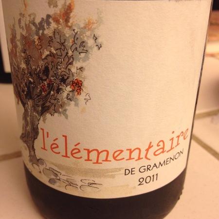 Domaine Gramenon L'Élémentaire Côtes du Rhône Grenache 2015