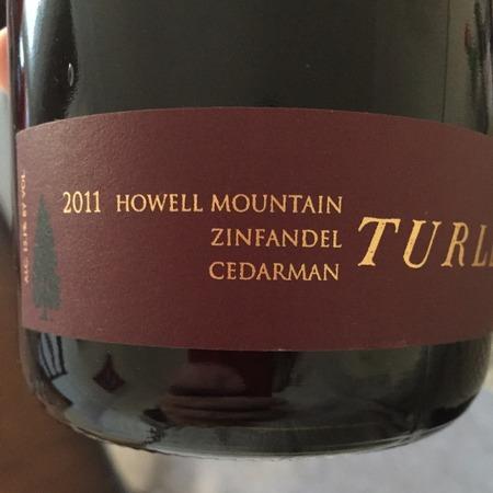 Turley Cedarman Howell Mountain Zinfandel 2015