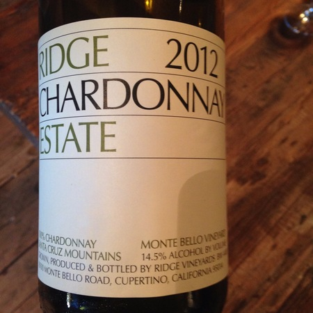 Ridge Vineyards Monte Bello Estate Vineyard Chardonnay 2014